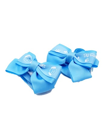 Dog Print Bow Tie Blue
