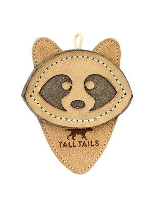 Natural Leather Racoon Toy Small 10cm -  Dogs product