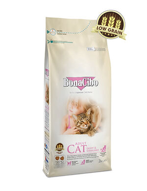 BonaCibo Adult Cat Light & Sterilized Dry Food 2kg