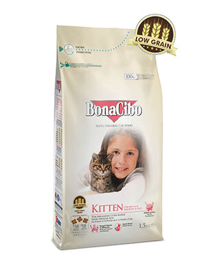 BonaCibo Kitten and Lactating Cats Chicken Dry Food 1.5Kg