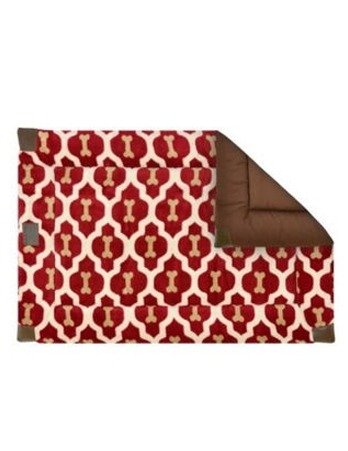 Red Bone Print Bed Medium