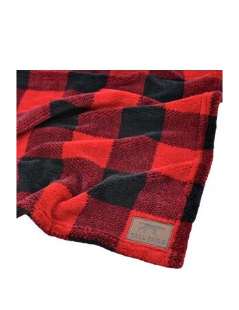 Hunters Plaid Fleece Blanket Tall Tails Large