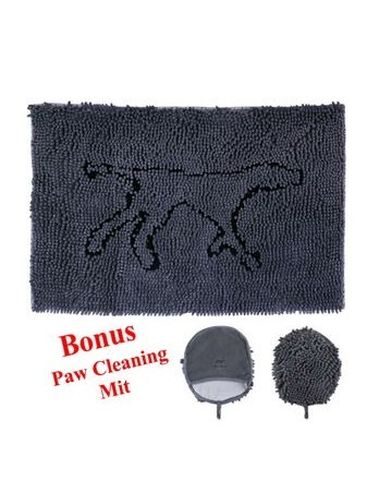 Wet Paws Mat w/Bonus Mitt Medium