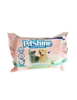 Pet Shine Wet Wipes  Muschio Bianco Fragrance 40pcs