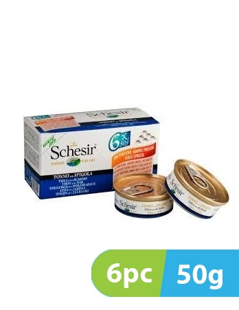 Schesir Cat wet Food Tuna with Sea Bass 6pc x 50g -  Cats product