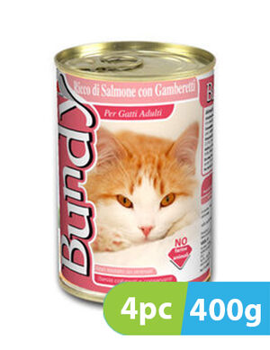 Bundy Salmon & Shrimps 4pc x 400g -  Cats product