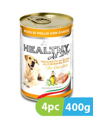 Healthy All Days Chicken & Carrots 4pc x 400g -  Dogs product