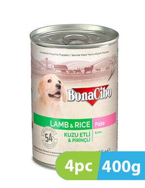BonaCibo Puppy Wet Food Lamb 4pc x 400g