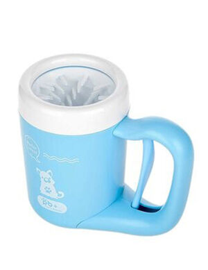 Pet Foot Washer Cup Medium Blue