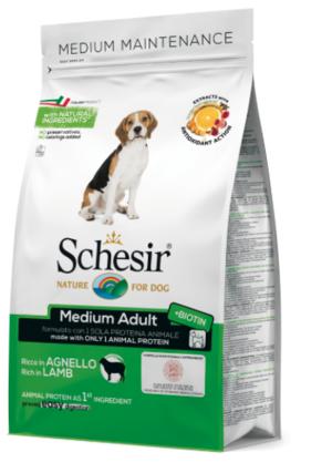 Schesir Medium Adult Dog Dry Food Lamb 3kg