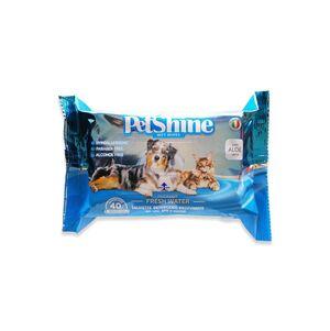 Pet Shine  Wet Wipes Fresh Water Fragrence 40pcs