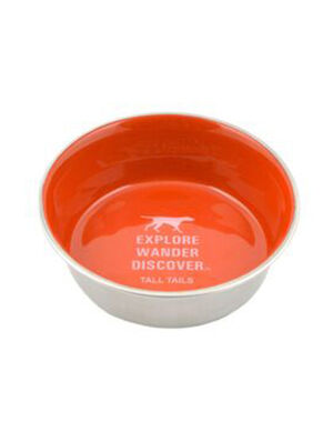 Tall Tails Orange Stainless Steel Bowl 6-Cup Large