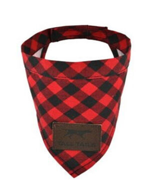 Tall Tails Red Plaid Bandana Medium/Large