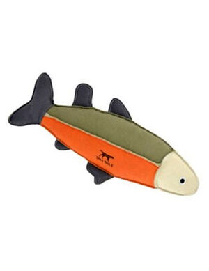 Tall Tails Canvas Fish with Squeaker Sage & Orange