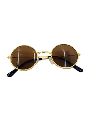 Round Fashion Sunglass Brown