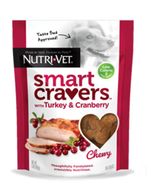 Nutri-Vet Smart Cravers Chewy Turkey & Cranberry 141g -  Dogs product