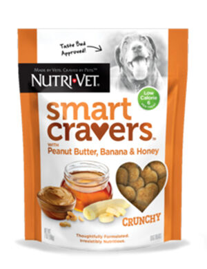 Nutri-Vet Smart Cravers Crunchy Peanut Butter Banana & Honey 198g