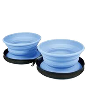 Kiwi Walker Travel Double Bowl Blue 350ml