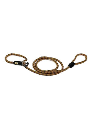 Kiwi Walker Dog Rope Leash Orange-Black Medium