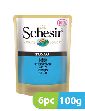 Schesir Cat Wet food Tuna 6pc x 100g