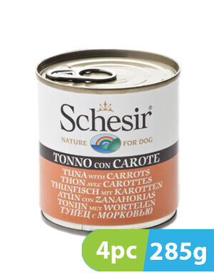 Schesir Dog Wet Food Tuna with Carrots 4pc x 285g