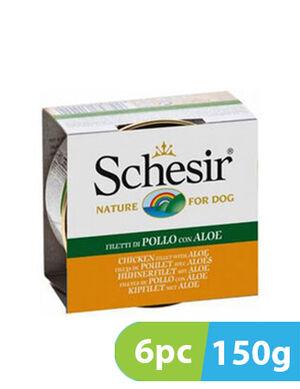 Schesir Dog Wet Food Chicken with Aloe 6pc x 150g