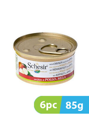 Schesir Cat Wet Food Chicken with Apple 6pc x 85g