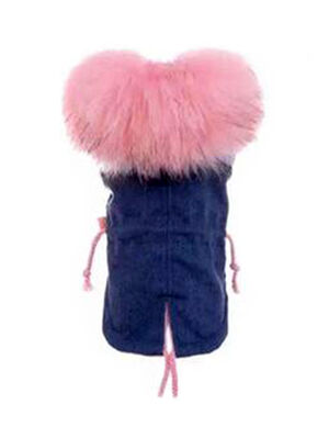 Pink Fur Coat Large