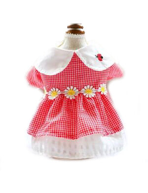 Red & White Lady Bird Dress Small