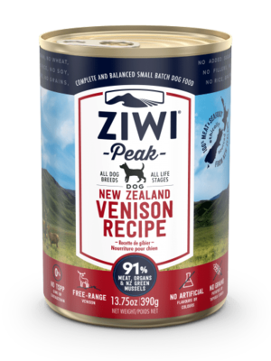 ZIWIPeak Wet Venison Recipe for Dogs 2pc x 390g