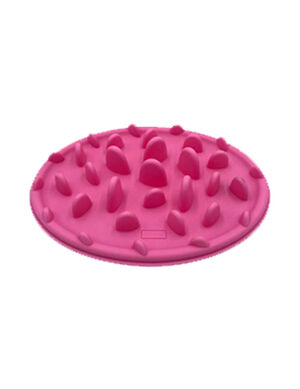 Pink Silicone Pet Slow Feeding Bowl Large