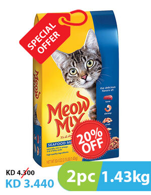 Meow Mix Seafood Medley 2pc x 1.43kg