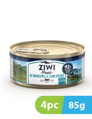 ZIWI Peak Cat Mackerel and Lamb Recipe wet Cat Food 4pc x 85g