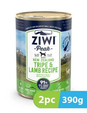 ZIWI Peak Wet Tripe & Lamb Recipe for Dogs 2pc x 390g
