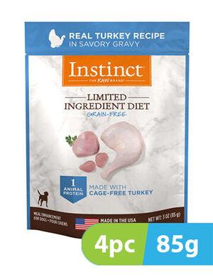 Instinct Limited Ingredient Diet Real Turkey Recipe for dog - Pouches 4pc x 85g