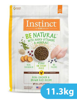 Instinct Be Natural Real Chicken & Brown Rice Recipe for dog 11.3kg