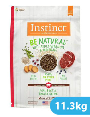 Instinct Be Natural Real Beef & Barley Recipe for dog 11.3kg