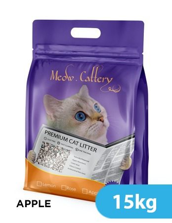 Meow Litter Apple 15kg