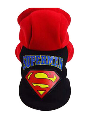 Superman Hoodie Black Large
