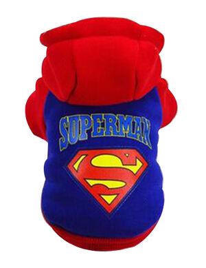 Superman Hoodie Blue Large