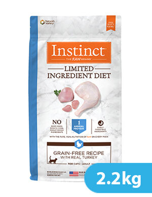 Instinct Limited Ingredient Diet Grain-Free Recipe with Real Turkey for cat 2.2kg