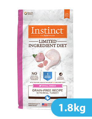 Instinct Limited Ingredient Diet Grain-Free Recipe with Real Turkey for Small Breed dog 1.8kg