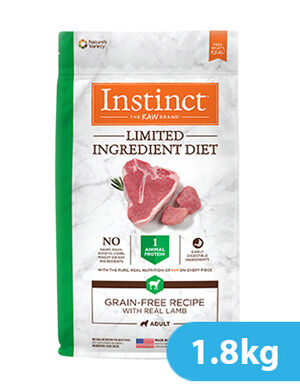 Instinct Limited Ingredient Diet Grain-Free Recipe with Real Lamb for dog 1.8kg -  Dogs product