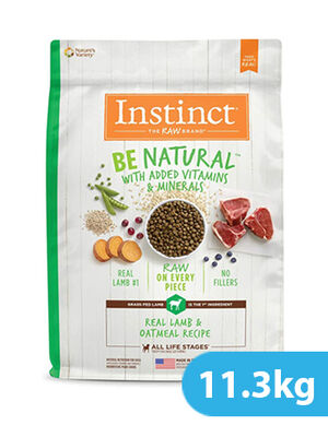 Instinct Be Natural Real Lamb & Oatmeal Recipe for dog 11.3kg
