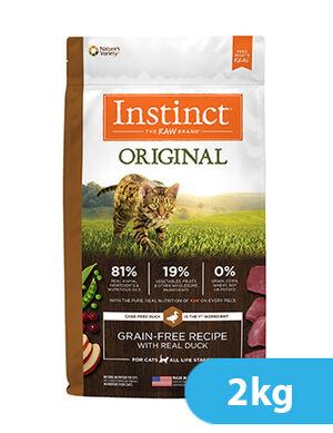 Instinct Original Grain-Free Recipe with Real Duck for cat 2kg