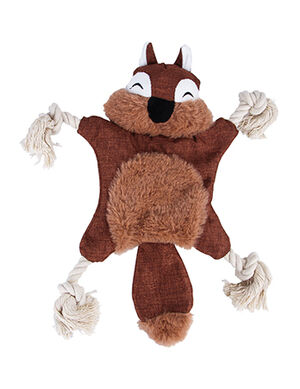 Brown Squirrel Plush Rope Toy