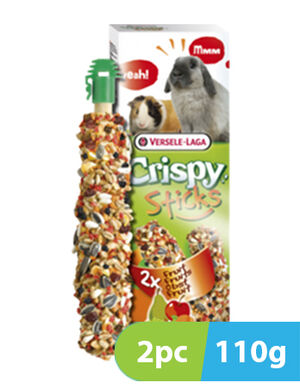 Versele-Laga Crispy Sticks Rabbits-Guinea Pigs Fruit 2pc x 110g