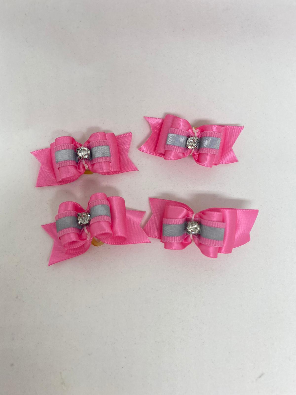 Pink Crystal Hair Bow