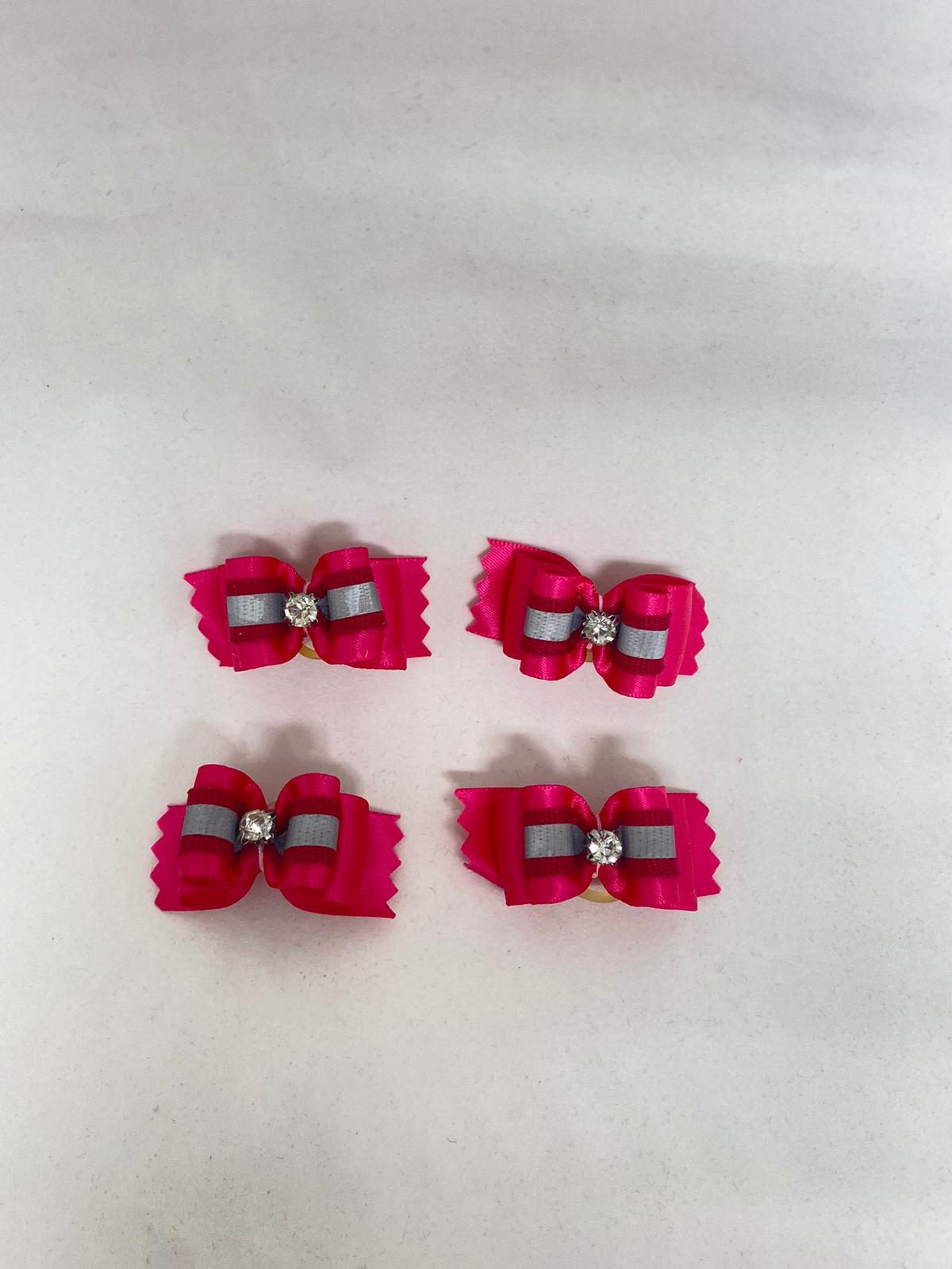 Fuchsia Crystal Hair Bow