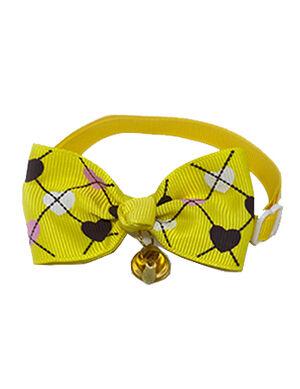 Yellow Heart Bow Tie Adjustable